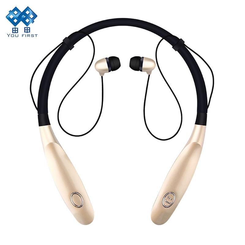 Headphone Bluetooth Wireless Neck Hanging TWS Sport Earphones IPX4 Waterproof Handsfree With HD Noise Microphone Long Standby big bluetooth wireless headphone earphones