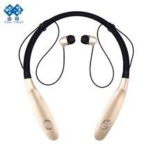 Наушники Bluetooth Беспроводной Средства ухода за кожей шеи висит СПЦ Спорт Наушники IPX4 Водонепроницаемый громкой связи с HD Шум микрофон долгого ожидания