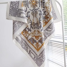 new fashion arrival spring summer 90*90 cm 100% silk scarf square twill hand mad
