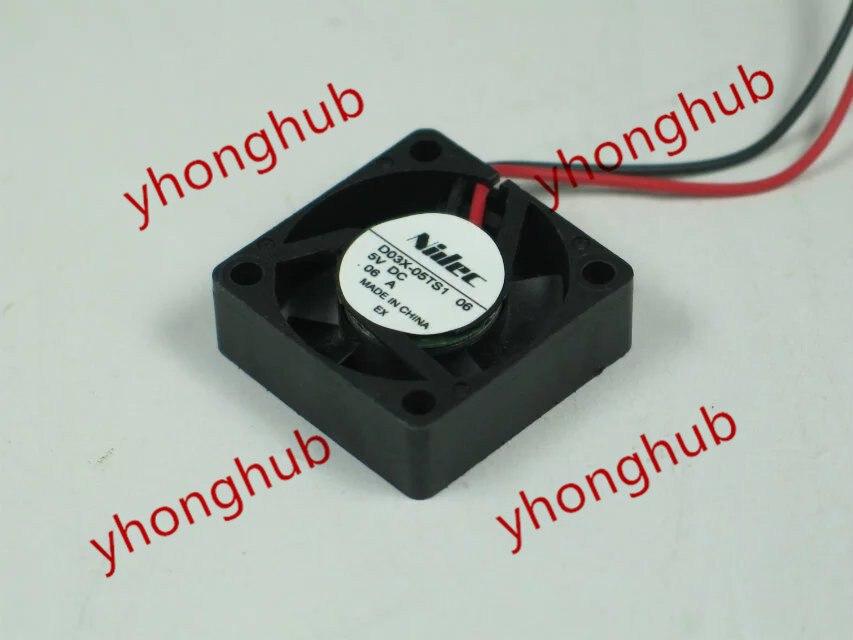 Nidec D03X-05TS1 06 DC 5V 0.06A 30x30x10mm Server Square fan