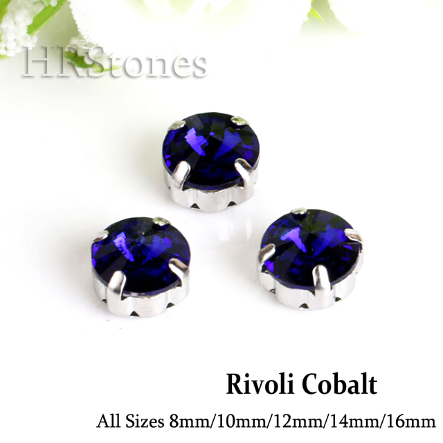 Rivoli Glass Claw Strass Crystals Cobalt Sewing On Stones For Clothes  Decoration aaf452999f9c