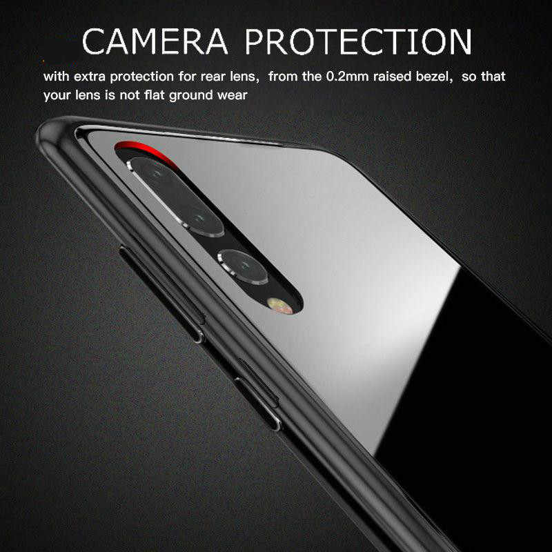 Magneto Magnetic Case for HuaWei P20 Metal Hard Tempered Glass Clear Cover for Samsung S9 S8 S7 EDGE Note 9 for iphone XS 7 8 XR