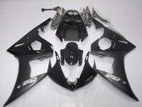 ערכת חרטום ABS אופנוע להריון ולידה עבור Yamaha YZF R6 YZFR6 YZF600 YZF-R6 05 2005 מעטפת הזרקה ברדס קייס שחור UV