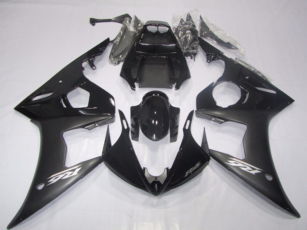 Motorcycle ABS Bodywork Fairing Kit For Yamaha YZF R6 YZFR6 YZF-R6 YZF600 05 2005 Injection Molding Fairings Cowl Case Black UV 6 colors cnc adjustable motorcycle brake clutch levers for yamaha yzf r6 yzfr6 1999 2004 2005 2016 2017 logo yzf r6 lever