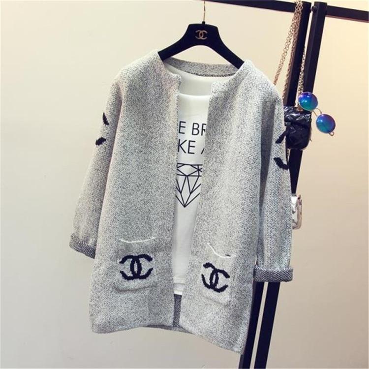 ⊹Nueva Chaquetas feminino 2017 moda estrella patrón Chaquetas ...