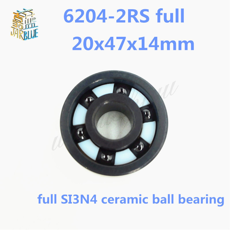 Free shipping 6204-2RS full SI3N4 ceramic deep groove ball bearing 20x47x14mm 6204 2RS P5 ABEC5 free shipping 687 full si3n4 ceramic deep groove ball bearing 7x14x3 5mm p5 abec5