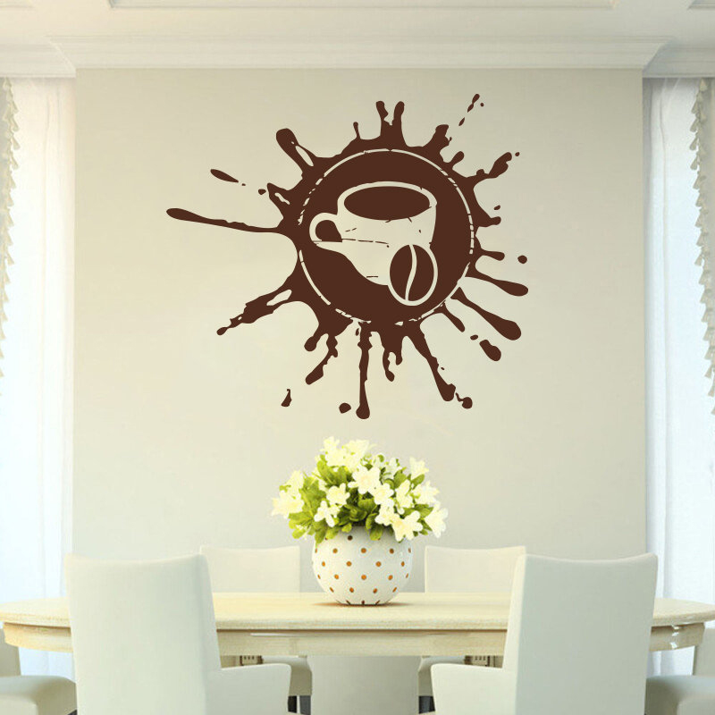 Coffee drink cappuccino hot drink grains cafe Food Wall Decal Window Sticker Handmade A8 003 in Wall Stickers from Home Garden
