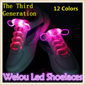 Hot selling New 1 Pair Led Light Shoelace Glow Stick Flashing Colored Neon Shoelace 12 Colors