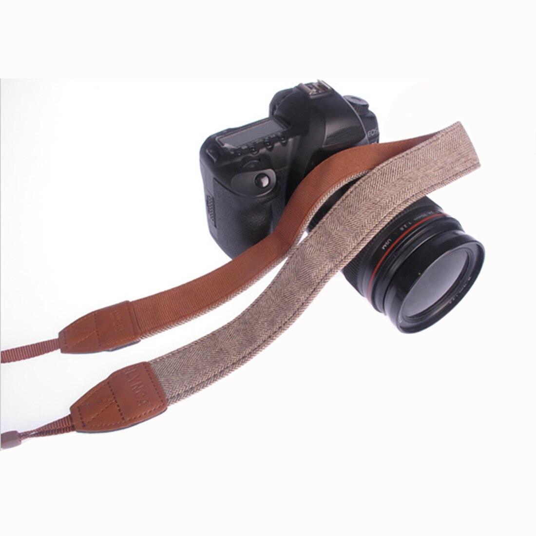 Centechia Universal Vintage Adjustable Cotton Leather Camera Shoulder Neck Strap Belt For Nikon SLR Cameras Strap Accessories
