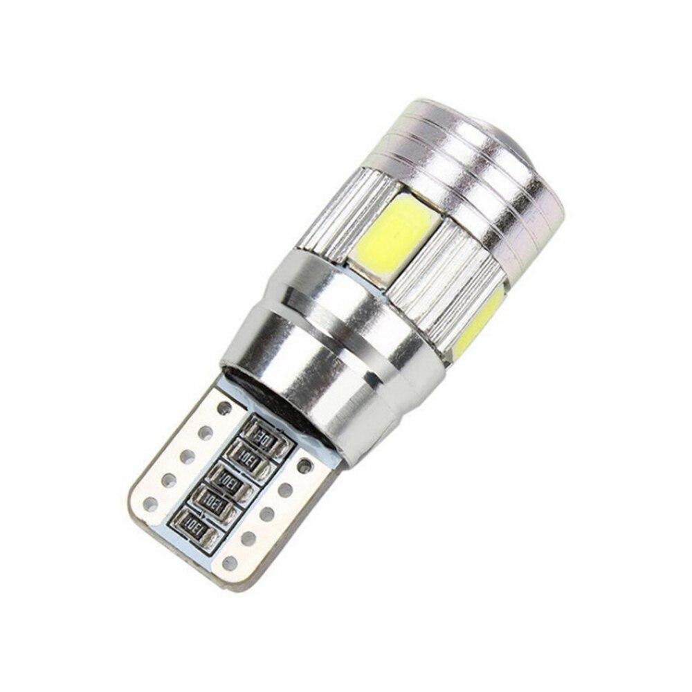 10 pcs Mobil LED Light Bulbs Lampu Izin T10 W5W 6SMD 5630 194 168 - Lampu mobil - Foto 2