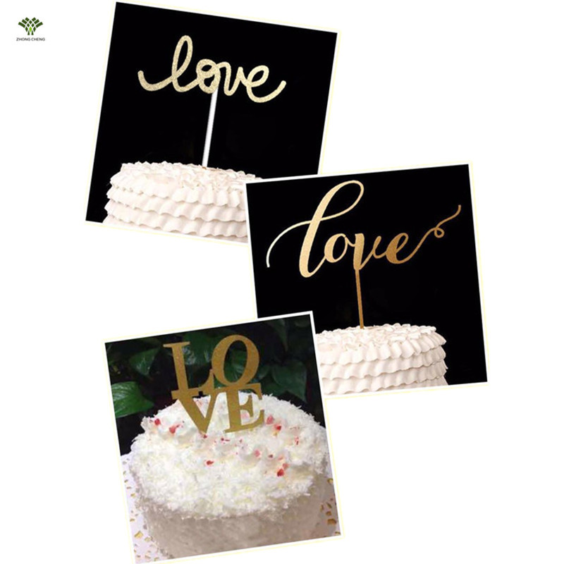Top 10 Wedding Cake Suppliers In Melbourne: 10PCS Wedding Decoration Love Cake Topper Wedding Cupcake