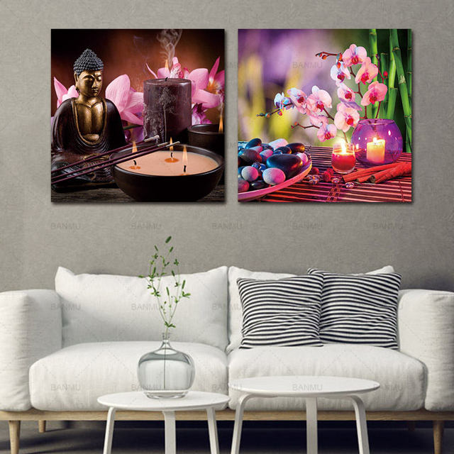 Canvas Wall Art Picturebuddha Spa Stone With Butterfly Orchid