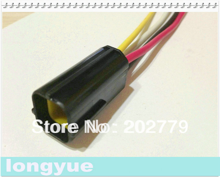 longyue 20sets font b universal b font 4 Pin Pigtail Connector font b Automotive b font online get cheap automotive universal wiring harness aliexpress universal automotive wiring harness at bayanpartner.co
