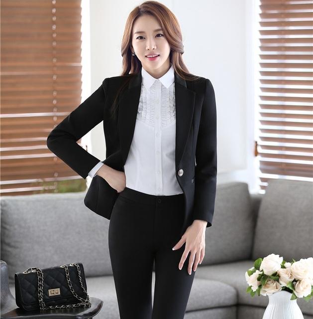Novidade Preto Desgaste do Trabalho Profissional de Negócios Ternos Com Coletes E Calças Femininas Definir Roupas Uniformes Pantsuits