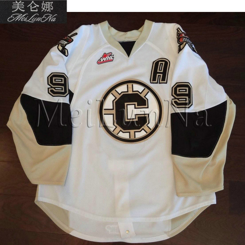 MeiLunNa Custom WHL Chilliwack Bruins Jerseys 9 Kevin Sundher Mark Santorelli Home Road White Black Red Sewn On Any Name NO. meilunna customize whl nanaimo islanders jerseys home road white blue sewn on any name no size