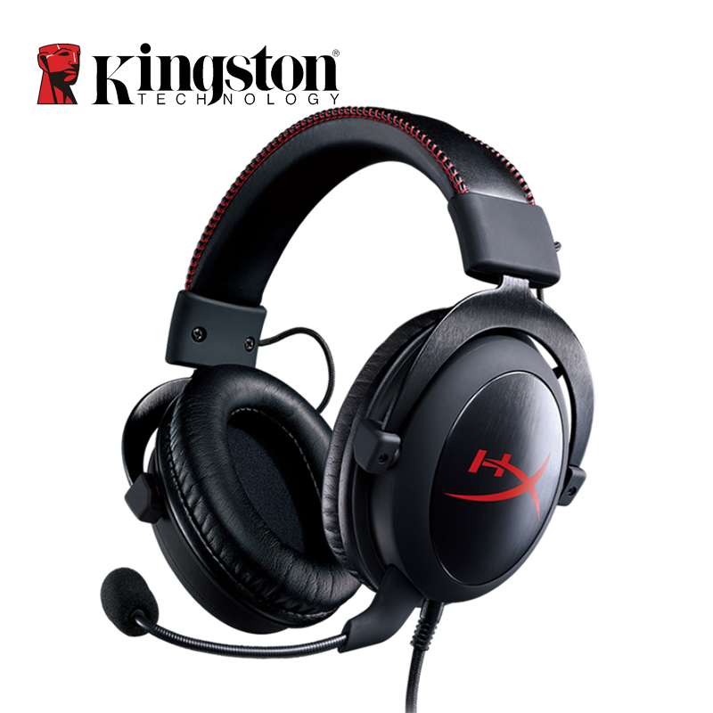 kingston hyperx cloud core silver auriculares headphones with microphone gaming headset for pc. Black Bedroom Furniture Sets. Home Design Ideas