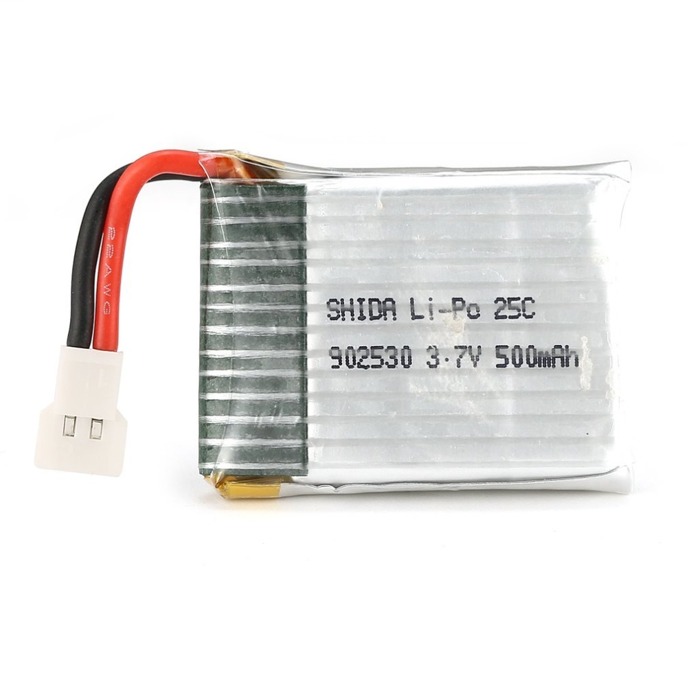 OCDAY 1S <font><b>3.7V</b></font> <font><b>500mAh</b></font> Li-po Rechargeable <font><b>Battery</b></font> for Wltoys F949 RC Fixed Wing Airplane Drone UAV Spare Part Accessories image