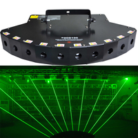 New 1W Green 1000mW with 10 head fan shaped laser bar Pro Laser Light DJ Disco Party Club Stage Lighting Effect DMX