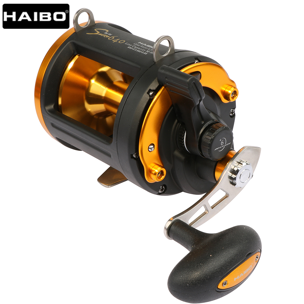 Haibo Sword 640 Long Casting Boat Baitcasting Fishing Reel Carbon Drag Sea Big Game Drum Trolling/Jigging reel 6BB 4.3:1|haibo sword 640|fishing reel|jigging reel - title=