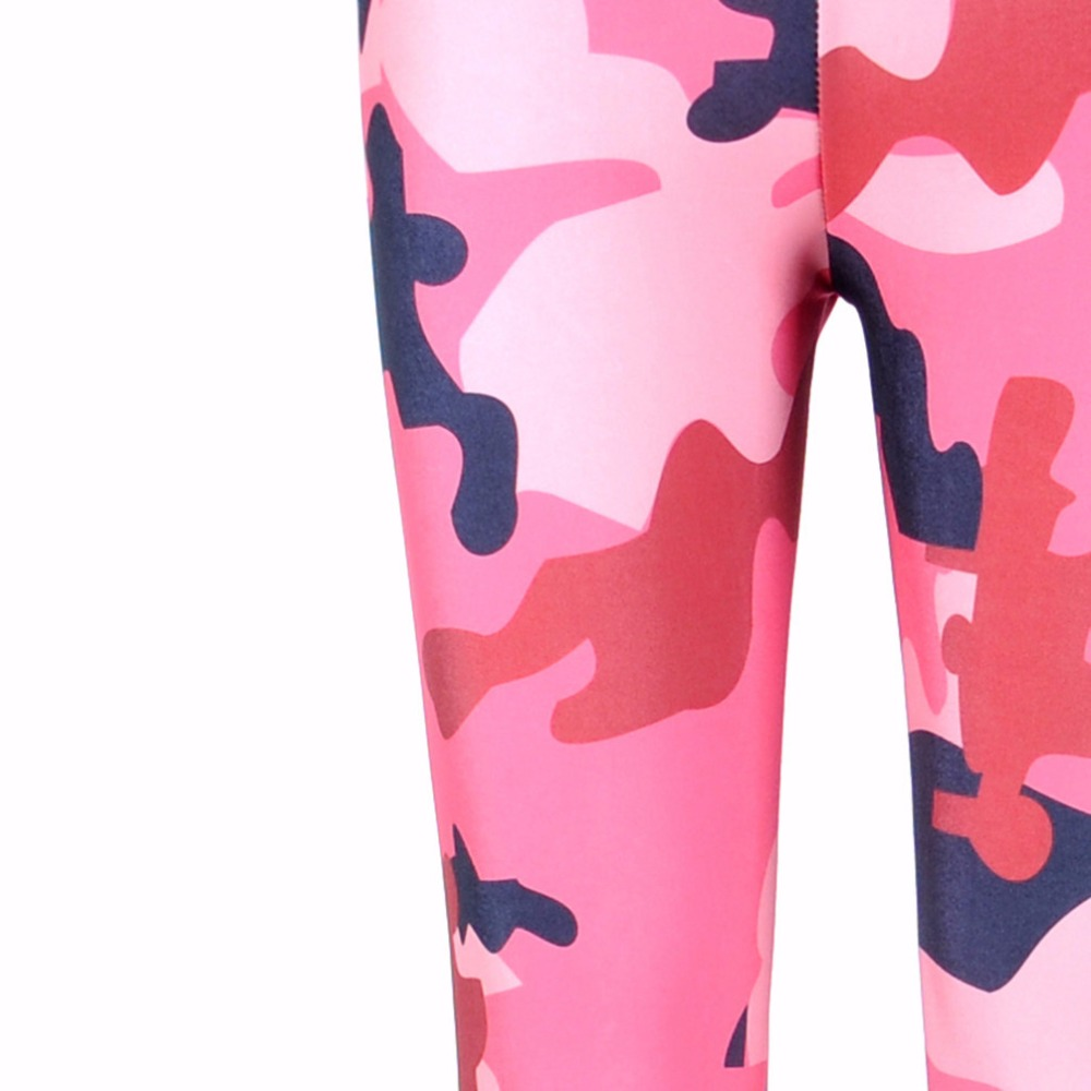 b80d2961060 New 3085 Sexy Girl Pink Plum camouflage CAMO pirate Printed Elastic Slim Fitness  Workout Women Leggings Pants Trousers Plus Size-in Leggings from Women s ...