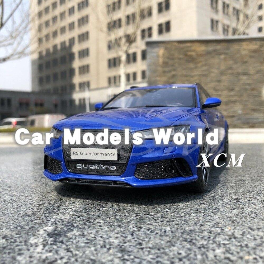 الراتنج سيارة نموذج ل GT الروح RS6 (C7) Nogaro طبعة (الأزرق) 1:18 GT719 + هدية صغيرة!!!!!-في سيارات لعبة ومجسمات معدنية من الألعاب والهوايات على  مجموعة 1