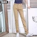 De alta calidad Pantalones de Las Mujeres 2017 del resorte Ocasional ropa de trabajo Formales OL Pantalones Harén Mujer elegante Oficina recta larga floja Pant