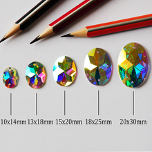 2052TH Oval AB  Holes Garment Rhinestones Sew on Strass AAAAA Crystals for Clothing Shoes Textil
