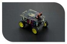 DFRobot Cherokey 4WD Basic Robot Kit Smart car Mobile Platform Romeo BLE Controller Servo Sensor Motor