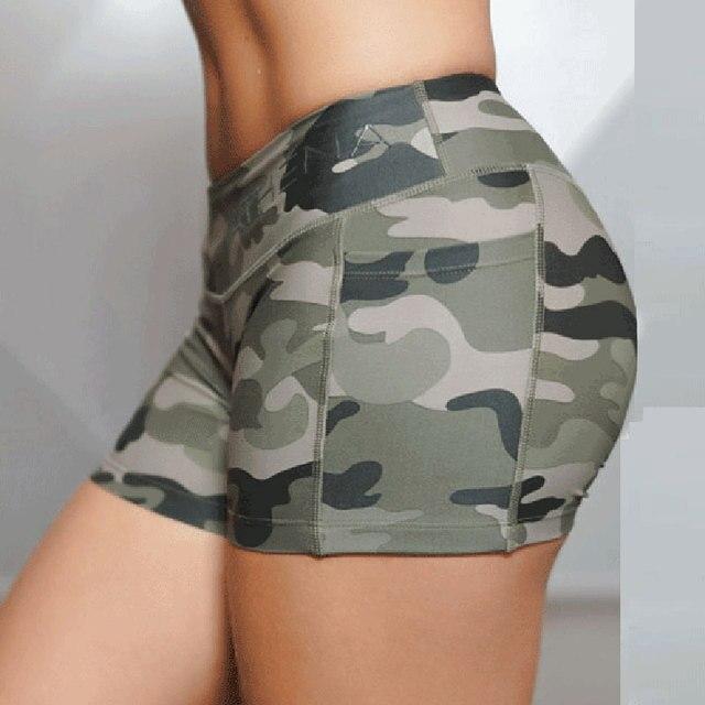 Pantalones cortos 2016 Nuevos Pantalones Cortos de Fitness Mujeres Sexy Imprimir Elasticidad Shorts