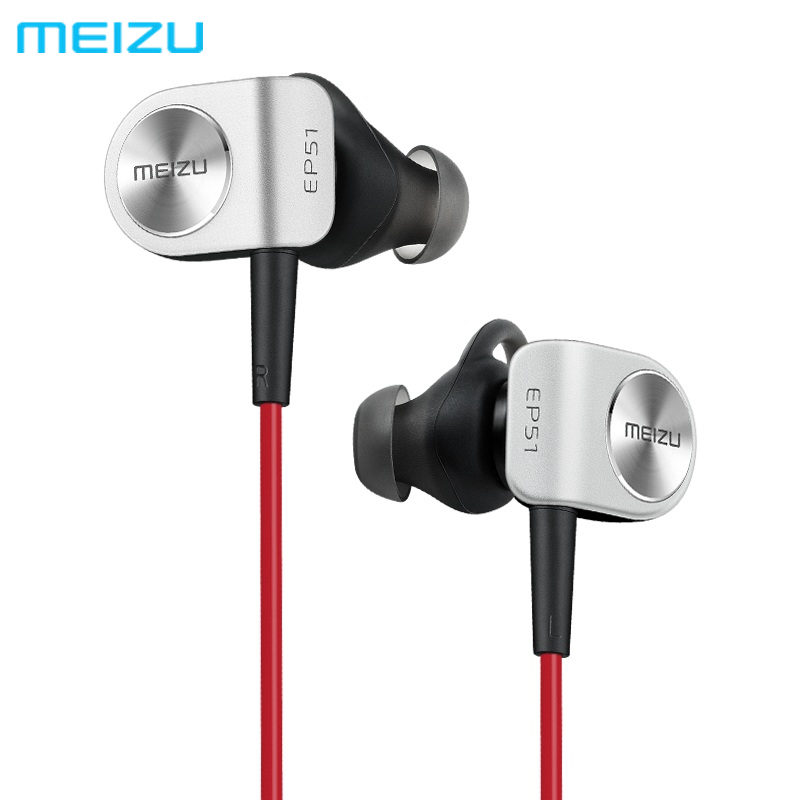 Original Meizu EP51 Wireless Earphone Bluetooth Sports Stereo Earphone Waterproof Noise Cancelling Headset With MIC Earbuds meizu ep51 ep52 wireless sports bluetooth4 in ear headphone support aptx noise cancelling mic aluminium alloy shell tpe line