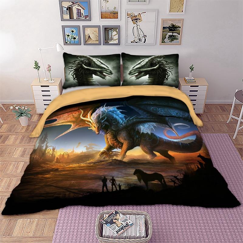 BEST.WENSD Printed kids bedding set bed cover set bedclothes dekbedovertrek Home textiles unicorn bedding duvet cover pillowcase