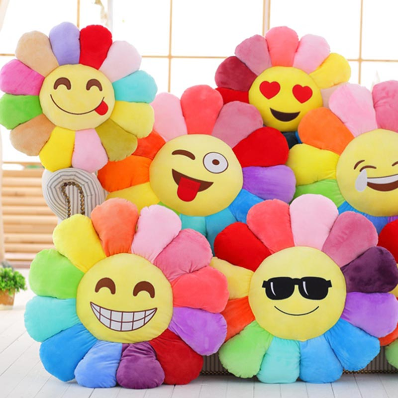 sunflower pillow &cushion funny emoji cushion sunflower plush toy home sofa decoration pillow kids toys gift for girlfriend flamingo plush toy pillow pink flamingo cushion baby girl princess room decoration kids doll girls gift home decorate