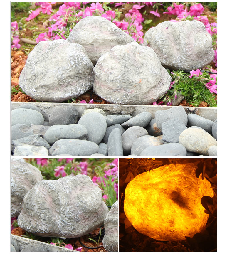 13cm Simulation Resin Stone Solar panel LED Spike Light Landscape Garden Yard Path Lawn Solar Lamps Outdoor Grounding Sun Light face to face туфли