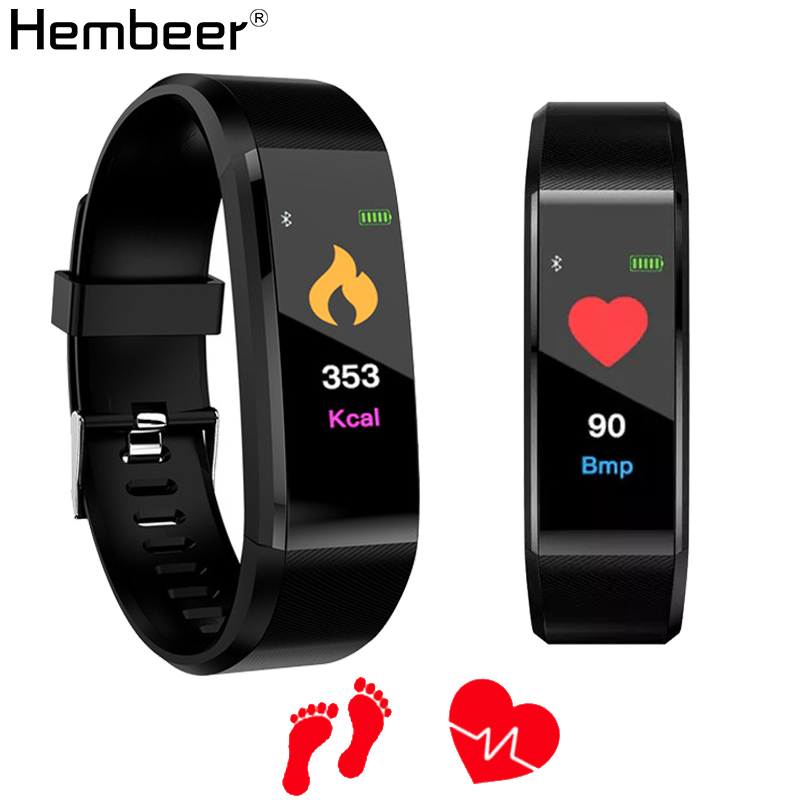 Bluetooth Sport Smart Band Heart Rate Monitor Fitness Tracker Bracelet Waterproof Calorie Pedometer Watch Men Women pk fitbits-in Smart Wristbands from Consumer Electronics