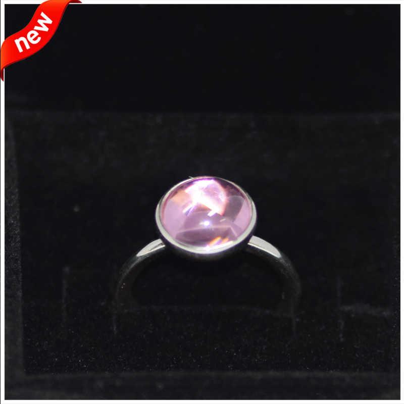 แหวนหยดบทกวีแหวนเงิน CZ สำหรับผู้หญิงผู้ชาย Anel Feminino 100% 925 Jewelry