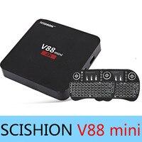 Оригинальный scishion V88 мини ТВ коробка rk3229 4 core Android 6.0 1 ГБ/8 ГБ Телевизионные приставки Smart Media Player PK x92 x96 mecool M8s Pro