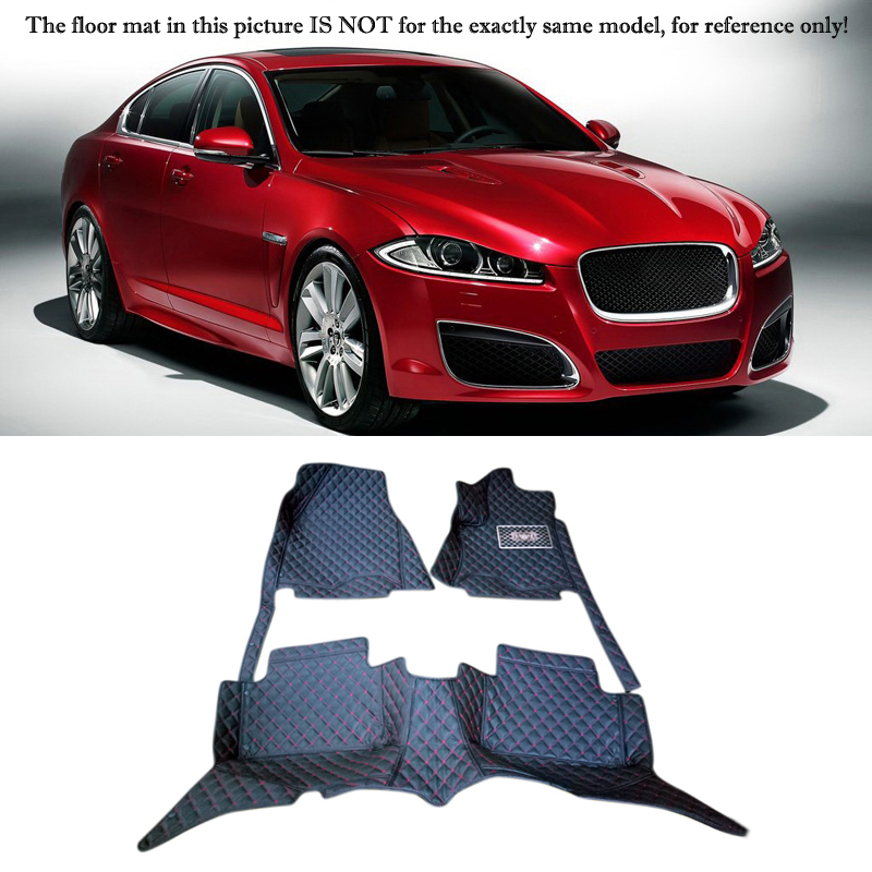 Fit For Jaguar XF X250 2009- 2015 Accessories Interior Leather Carpets Cover Car Foot Mat Floor Pad 1set fit for jaguar f pace f pace x761 2016 2017 2018 accessories interior leather carpets cover car foot mat floor pad 1set