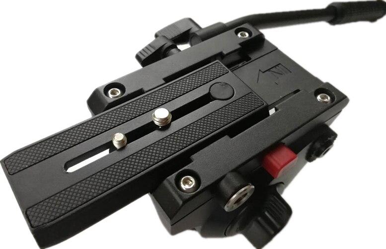 Camera Hydraulic Tripod Head Damping Tripod Head Slide PTZ 3D Track PTZ Panorama 360┬░ two handle hydraulic damping three dimensional tripod head for camera black