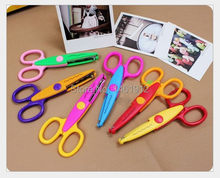 1Set/6pcs New Items!Metal and Plastic DIY Scrapbooking Photo Scissors Paper Lace Diary Decoration with 6 Patterns(China)