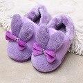 Зима Повседневная теплый детская обувь Толстые Дети Главная Обувь ребенка Тапочки Кожаные Мальчиков Обувь для Девочек Из Натуральной Кожи CHW002