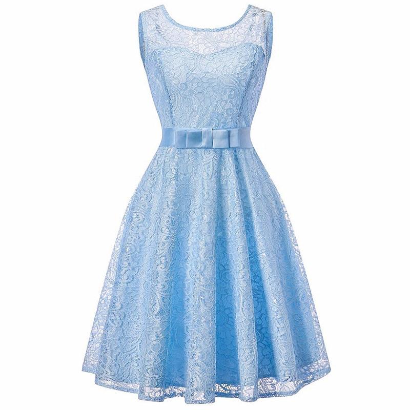 Elegant Lady Wedding Party Dinner Party Dress 2018 New Bridesmaids Lace Dresses Lace Sequins Bridesmaid Dresses Party
