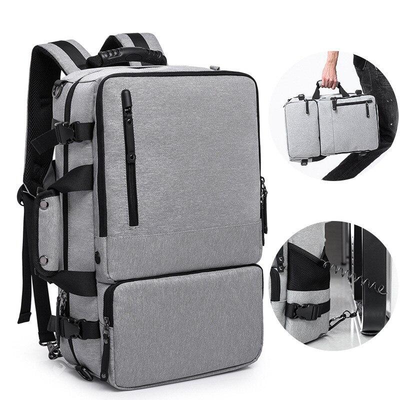 Бизнес рюкзак для мужчин 17 дюйм(ов) ноутбук дорожная сумка багаж Новый большой емкости Анти-Вор дизайн огромный большой емкости
