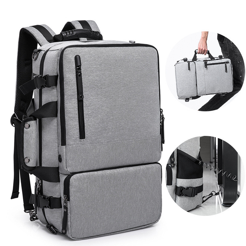 Qi Wang Men Backpack For 17 inches Laptop Business Travel Bag Luggage New High Capacity Anti-thief Design Huge Large Capacity business backpack laptop man travel bags laptop backpack anti thief design school computer men luggage large capacity travel bag