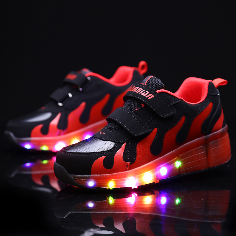 18 Kinds Children Wheel Shoes Boy & Girls Casual With LED Lamp Fashion Sport Shoes For Chid Kids Flash Roller Sneakers