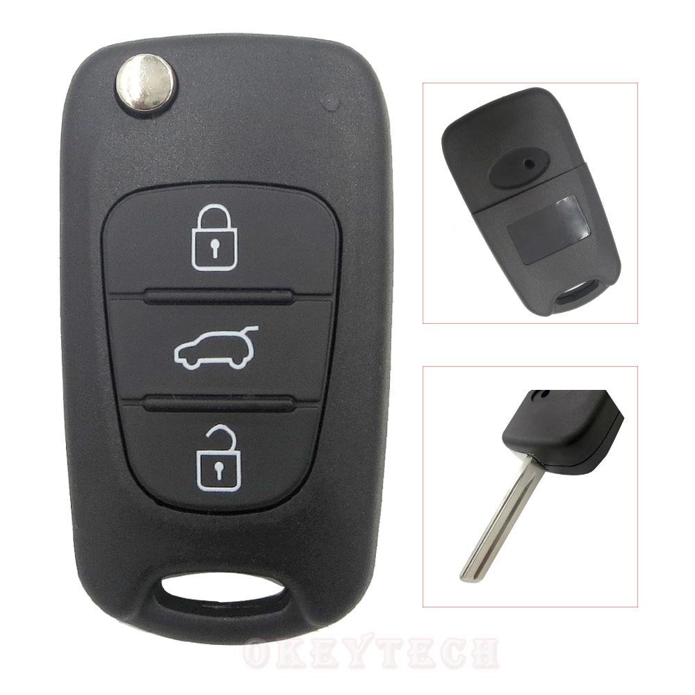 3 кнопочный Выкидной ключ Складные Ключа автомобиля Shell для kia sportage picanto 3 Рио k2 K5 cerato вечерние платья для hyundai auto заготовки ключей удаленного