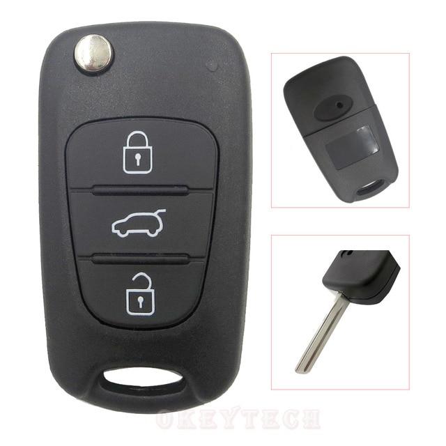 3 Button Flip key Folding car key Shell for kia sportage picanto 3 rio k2 K5 cerato ceed soul for hyundai auto key blanks Remote