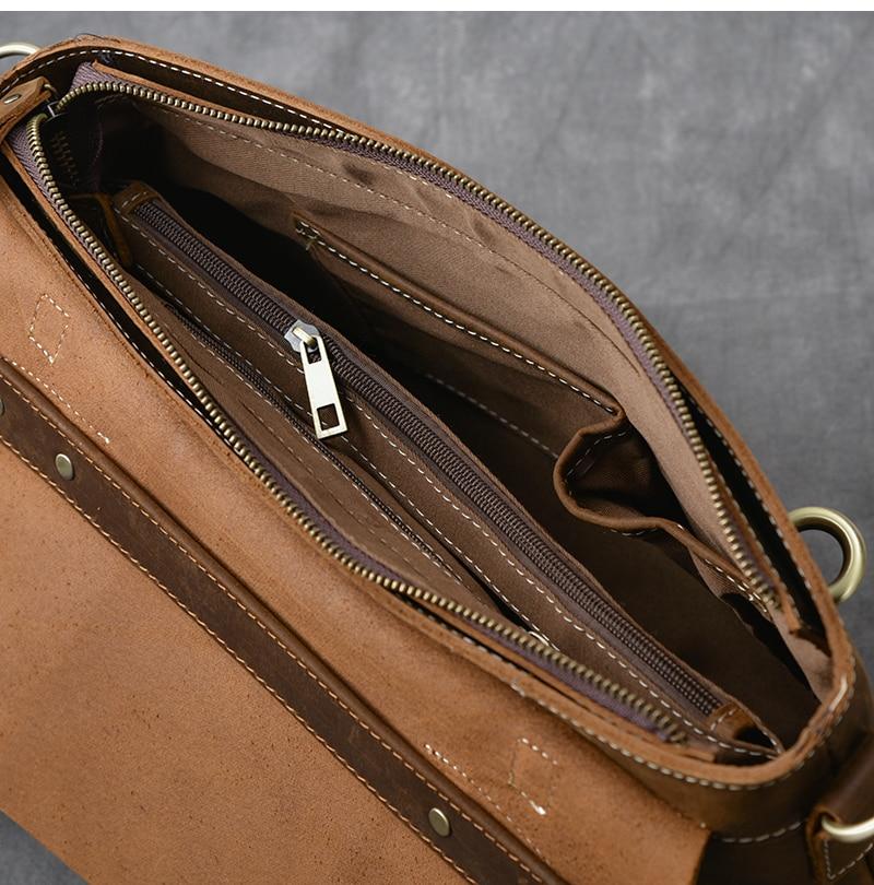 Brown Leather Handbag Vintage inside