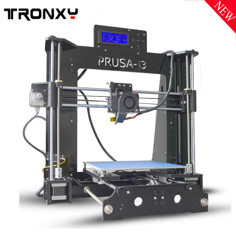 Tronxy 3D Printer X6D High Precision Prusa I3 kit Printing 220*220*180mm Acrylic LCD Screen 3D printer Kit with Heated Bed/Fram tronxy acrylic p802 mts 3d printer