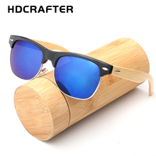 2017 HDCRAFTER Wood Reflective Lens Horn Rimmed Unisex Sunglasses Cat Eye Stylish wooden print UV400 Sun Glasses for Women/Men