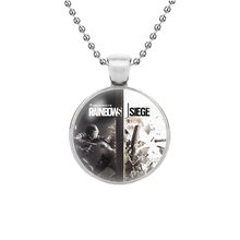 Fashion Accessories rainbow six siege Pendant Jewelry Glass Pendant Necklace(China)
